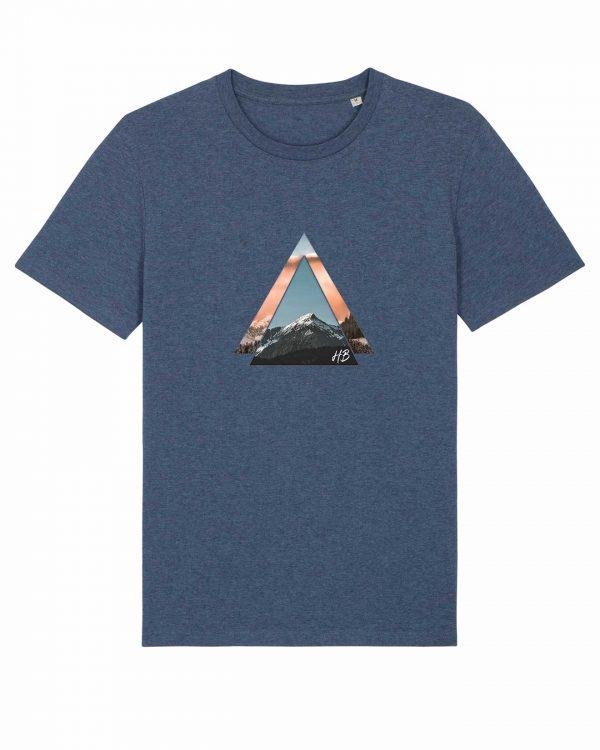 Bergzeit - Herren T-Shirt - Dunkelblau Gesprenkelt - 3XL