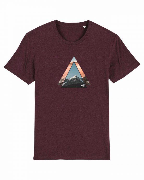 Bergzeit - Herren T-Shirt - Weinrot Gesprenkelt - 3XL