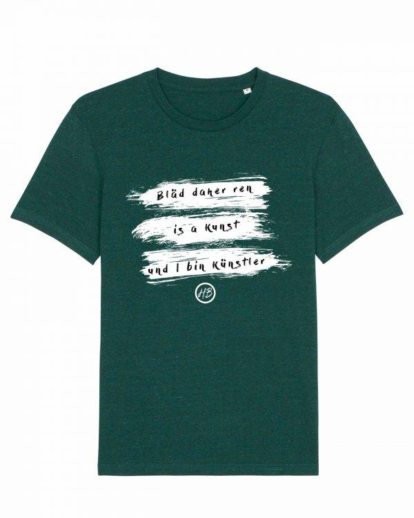 Bläd Daher Ren - Herren T-Shirt - Dunkelgrün Gesprenkelt - 3XL