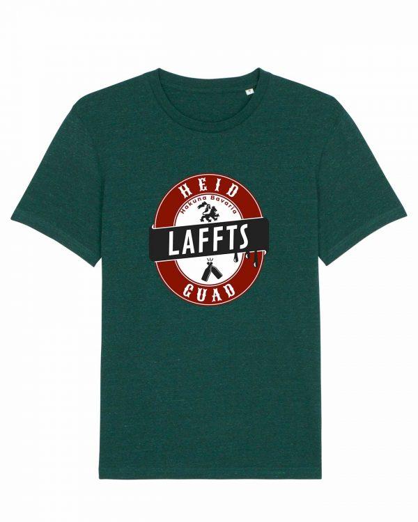 Heid Laffts Guad - Herren T-Shirt - Dunkelgrün Gesprenkelt - 3XL