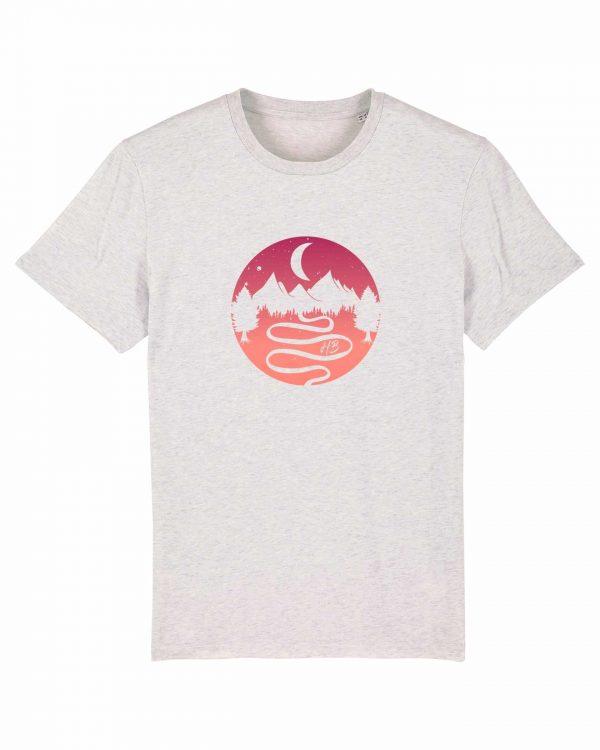 Heimatlandschaft - Herren T-Shirt - Weiß Gesprenkelt - 3XL