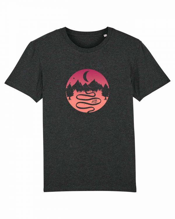 Heimatlandschaft - Herren T-Shirt - Dunkelgrau Gesprenkelt - 3XL