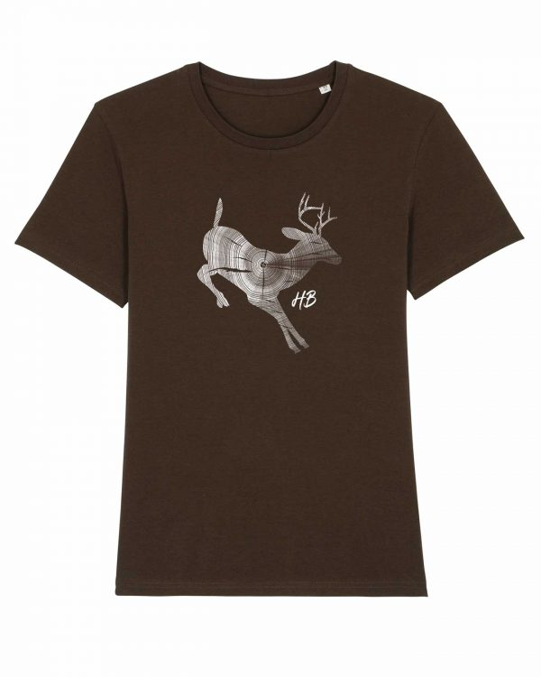 Hirsch Jahresringe - Herren T-Shirt - Braun - 3XL