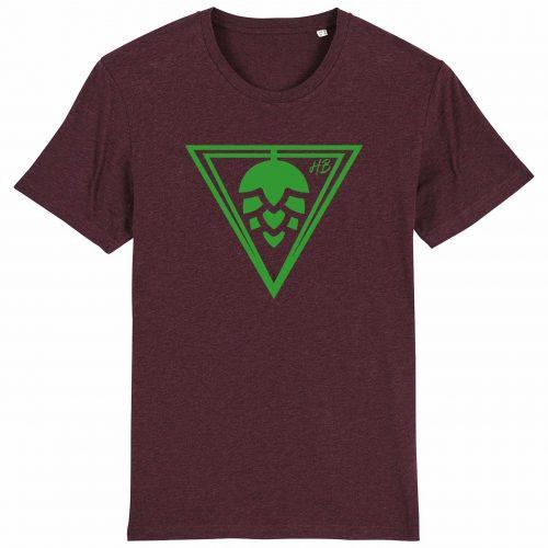 Hopfen-Dreieck - Herren T-Shirt - Weinrot Gesprenkelt - 3XL