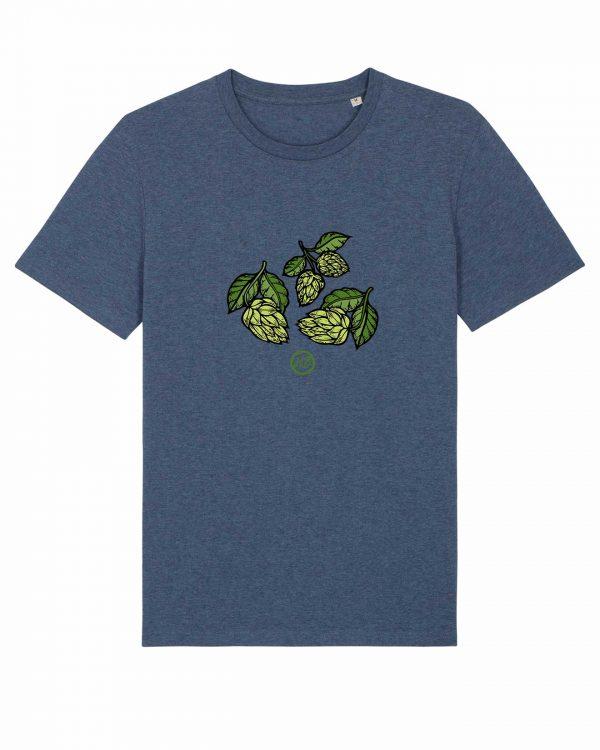 Hopfendolden - Herren T-Shirt - Dunkelblau Gesprenkelt - 3XL