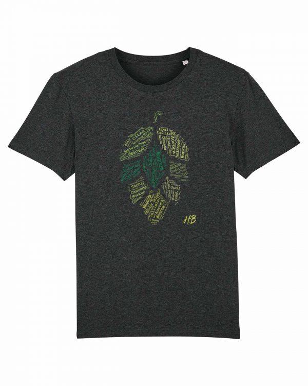 Hopfensorten - Herren T-Shirt - Dunkelgrau Gesprenkelt - 3XL