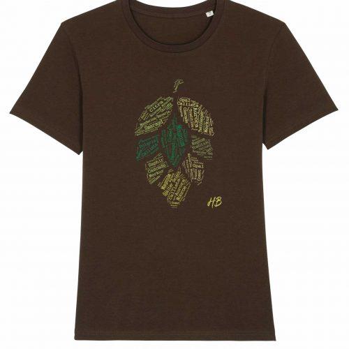 Hopfensorten - Herren T-Shirt - Braun - 3XL