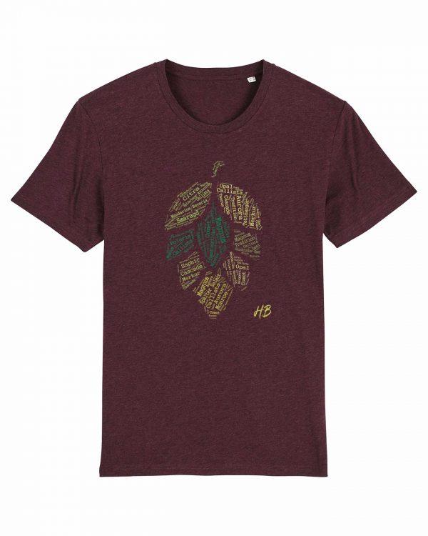 Hopfensorten - Herren T-Shirt - Weinrot Gesprenkelt - 3XL