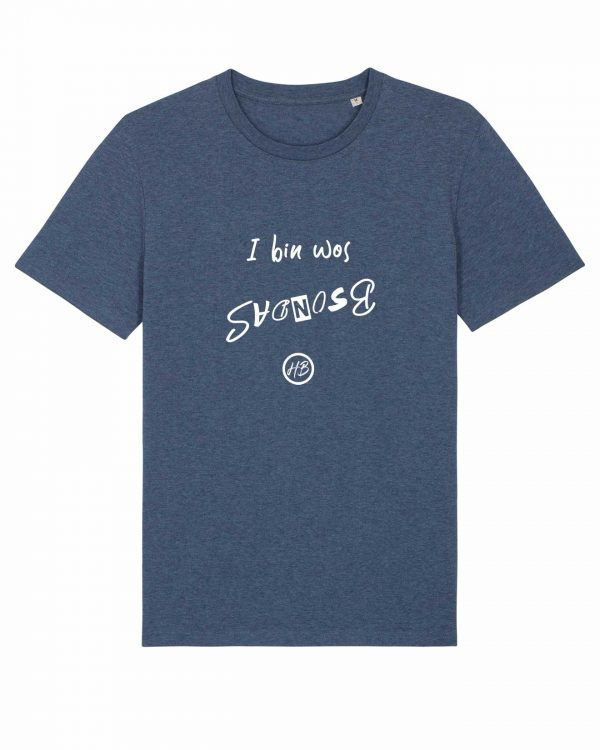 I Bin Wos Bsondas - Herren T-Shirt - Dunkelblau Gesprenkelt - 3XL
