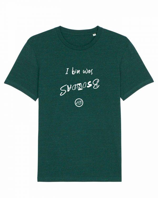 I Bin Wos Bsondas - Herren T-Shirt - Dunkelgrün Gesprenkelt - 3XL