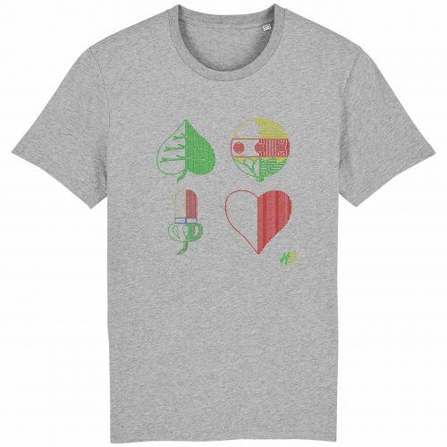 Kartln - Herren T-Shirt - Hellgrau Gesprenkelt - 3XL