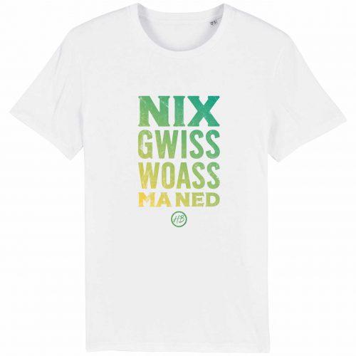 Nix Gwiss Woass Ma Ned - Herren T-Shirt - Weiß - 3XL