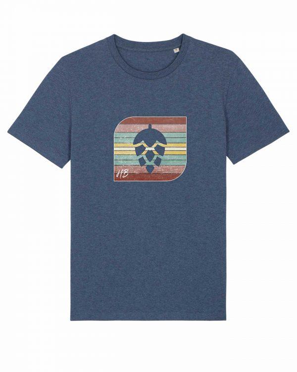 Retro-Hopfendolde - Herren T-Shirt - Dunkelblau Gesprenkelt - 3XL