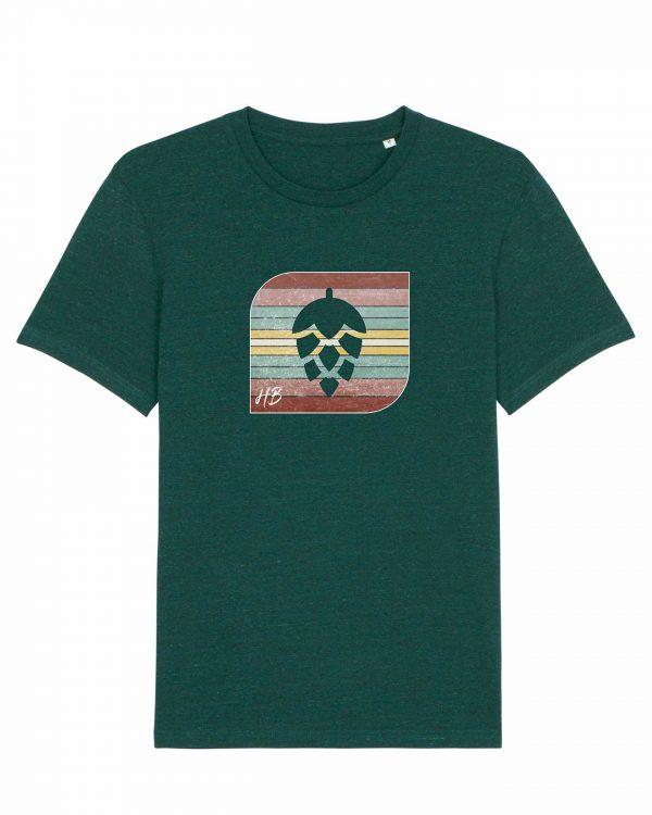 Retro-Hopfendolde - Herren T-Shirt - Dunkelgrün Gesprenkelt - 3XL