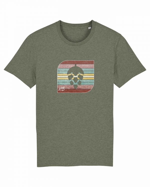 Retro-Hopfendolde - Herren T-Shirt - Moosgrün Gesprenkelt - 3XL