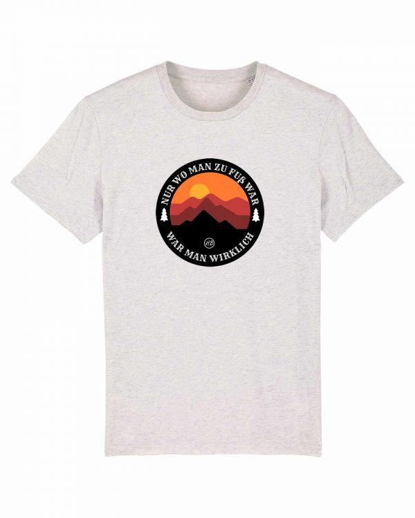 Wanderzeit - Herren T-Shirt - Weiß Gesprenkelt - 3XL