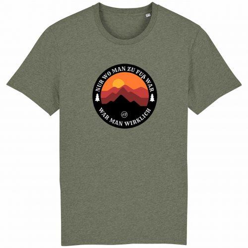 Wanderzeit - Herren T-Shirt - Moosgrün Gesprenkelt - 3XL