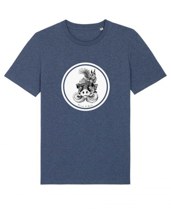 Fonse & Bäda - Herren T-Shirt - Dunkelblau Gesprenkelt - 3XL