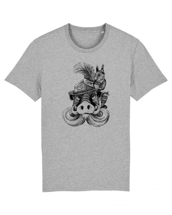 Fonse & Bäda - Herren T-Shirt - Hellgrau Gesprenkelt - 3XL