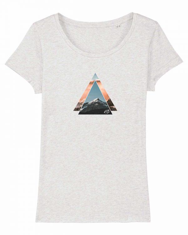 Bergzeit - Damen T-Shirt - Weiß Gesprenkelt - XXL