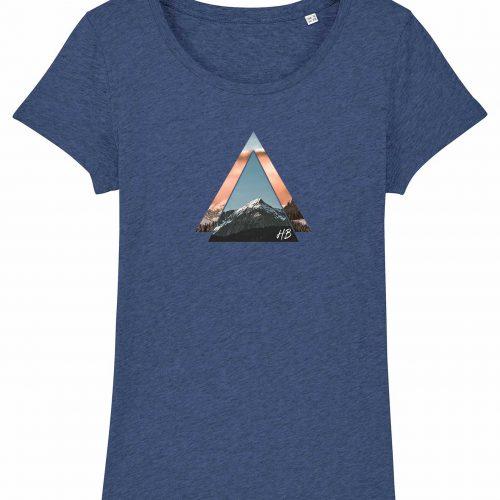 Bergzeit - Damen T-Shirt - Blau Gesprenkelt - XXL