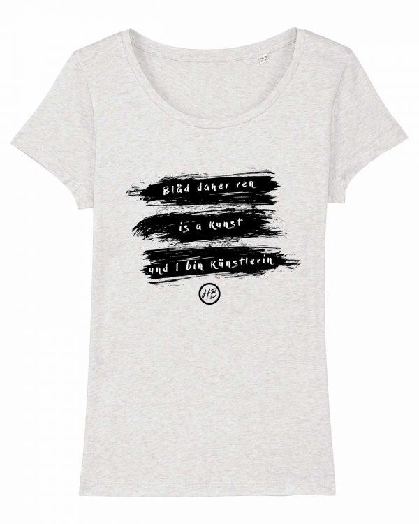 Bläd Daher Ren - Damen T-Shirt - Weiß Gesprenkelt - XXL