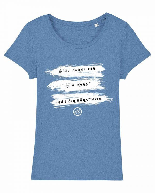 Bläd Daher Ren - Damen T-Shirt - Hellblau Gesprenkelt - XXL