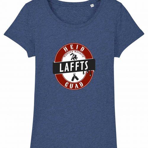 Heid Laffts Guad - Damen T-Shirt - Blau Gesprenkelt - XXL