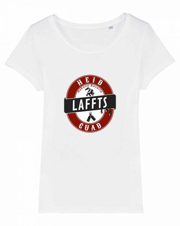 Heid Laffts Guad - Damen T-Shirt - Weiß - XXL