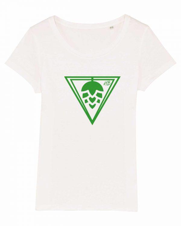 Hopfen-Dreieck - Damen T-Shirt - Creme Weiß - XXL
