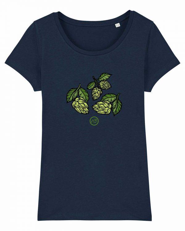 Hopfendolden - Damen T-Shirt - Dunkelblau - XXL