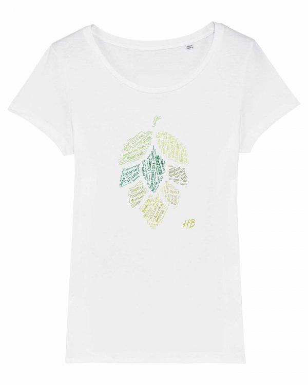 Hopfensorten - Damen T-Shirt - Weiß - XXL