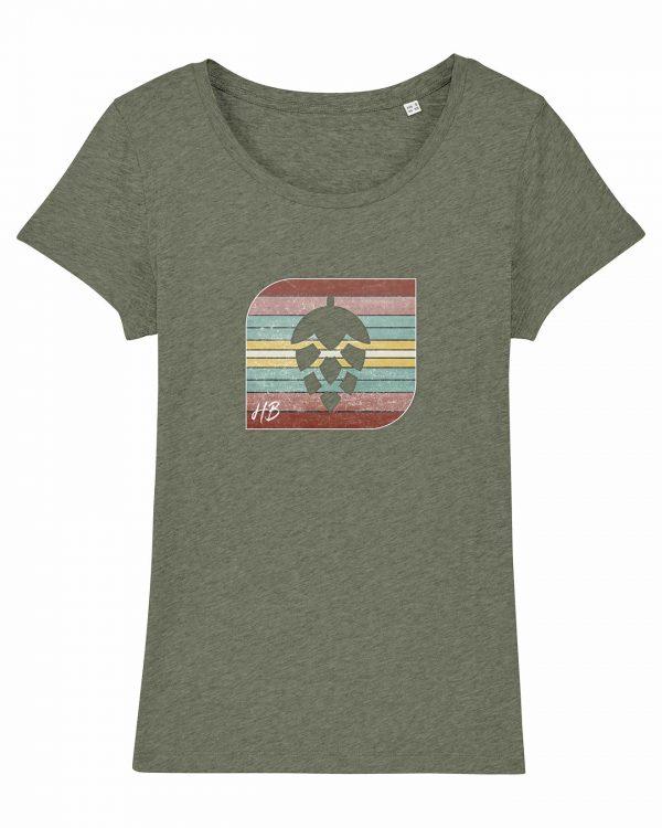 Retro-Hopfendolde - Damen T-Shirt - Moosgrün Gesprenkelt - XXL