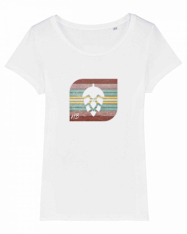 Retro-Hopfendolde - Damen T-Shirt - Weiß - XXL