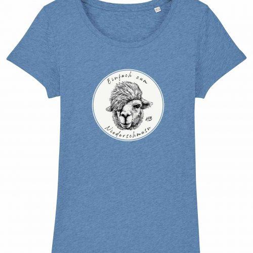 Zum Niederschmusn - Damen T-Shirt - Hellblau Gesprenkelt - XXL