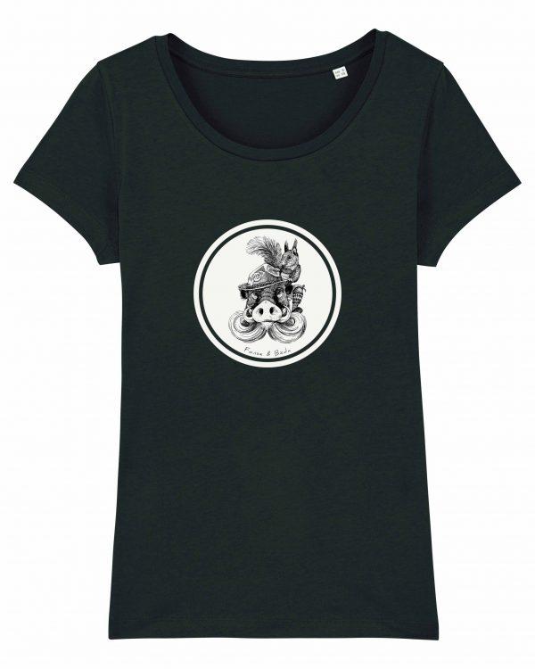 Fonse & Bäda - Damen T-Shirt - Schwarz - XXL