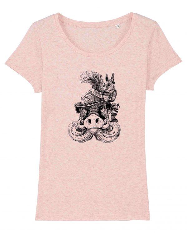 Fonse & Bäda - Damen T-Shirt - Pink Gesprenkelt - XXL