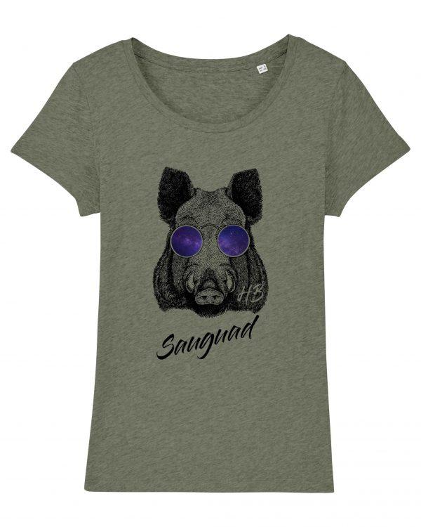 Sauguad - Damen T-Shirt - Moosgreun Gesprenkelt - XXL