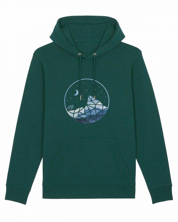 Auffe aufn Berg - Herren Hoodie - Waldgrün - 3XL