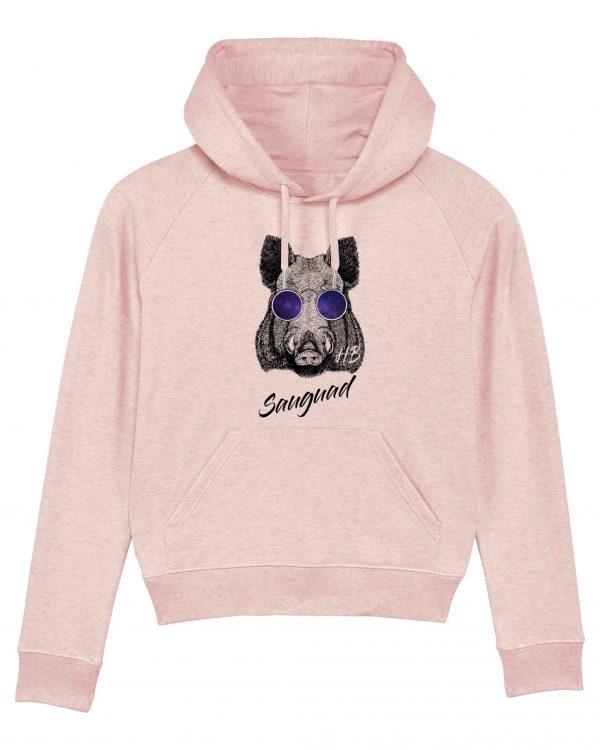 Sauguad - Damen Hoodie - Pink Gesprenkelt - XXL