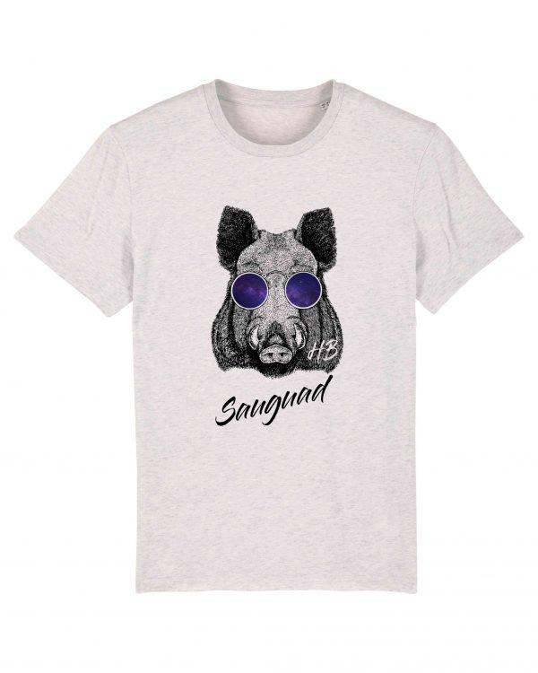 Sauguad - Herren T-Shirt - Weiss Gesprenkelt - 3XL