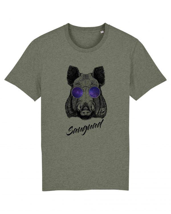 Sauguad - Herren T-Shirt - Moosgruen Gesprenkelt - 3XL