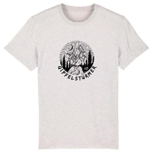 Gipfelstürmer - Herren T-Shirt - Weiß Gesprenkelt - 3XL