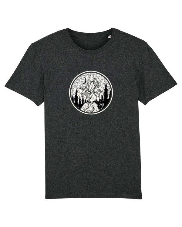 Gipfelstürmer - Herren T-Shirt - Dunkelgrau Gesprenkelt - 3XL