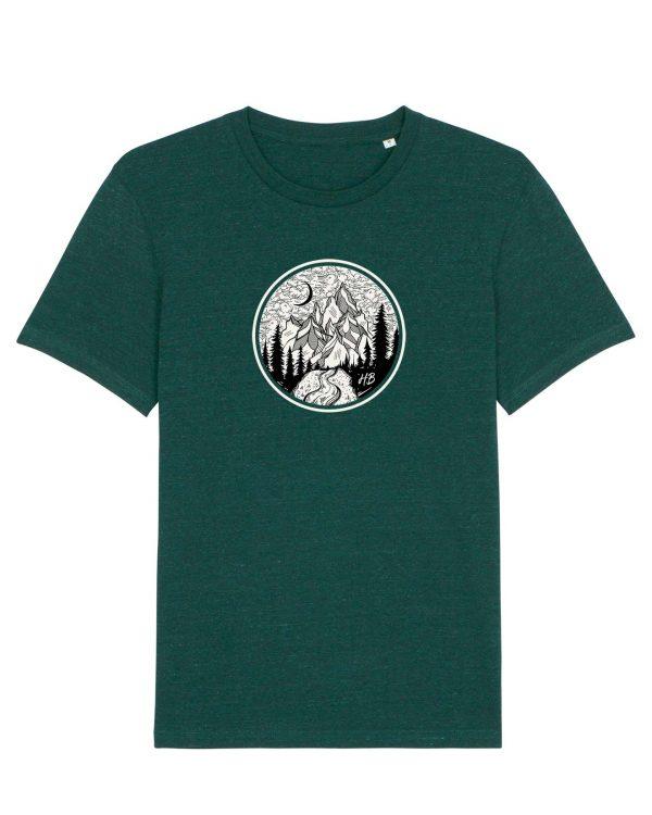 Gipfelstürmer - Herren T-Shirt - Dunkelgrün Gesprenkelt - 3XL