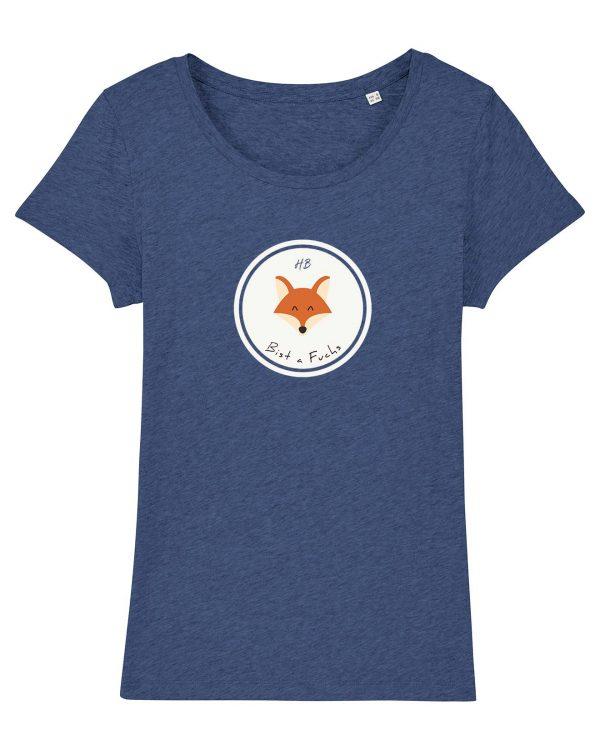 Bist a Fuchs - Damen T-Shirt - Blau Gesprenkelt - XXL