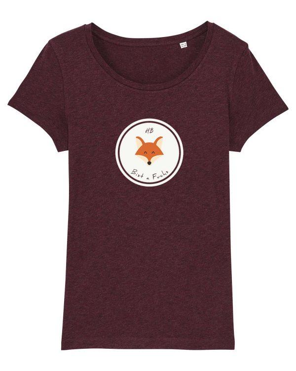 Bist a Fuchs - Damen T-Shirt - Weinrot Gesprenkelt - XXL