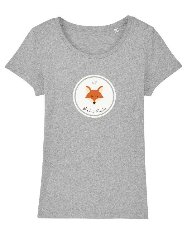 Bist a Fuchs - Damen T-Shirt - Hellgrau Gesprenkelt - XXL