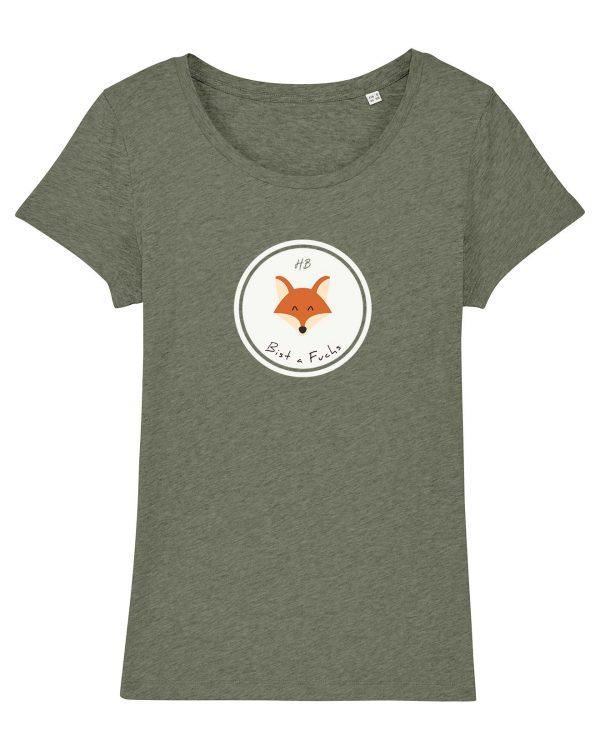 Bist a Fuchs - Damen T-Shirt - Moosgrün Gesprenkelt - XXL