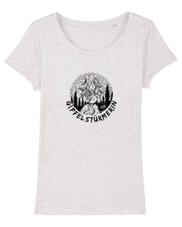 Gipfelstürmerin - Damen T-Shirt - Weiß Gesprenkelt - XXL